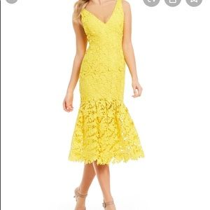 Antonio Melano Namara yellow lace brocade sundress
